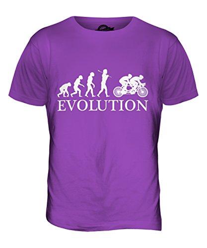 CandyMix Tandem Fahrrad Evolution Des Menschen Herren T Shirt Violett