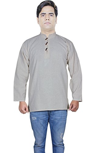 100-khadi-de-coton-mens-shirt-tunique-indienne-en-coton-cru-plaine-kurta-de-yoga