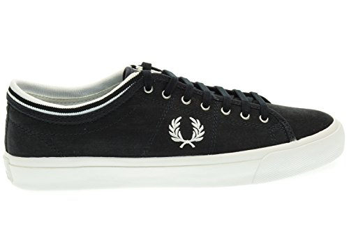 FRED PERRY uomo sneakers basse B8265 608 KENDRICK TIPPED CUFF BRSHD COT NAVY Blu