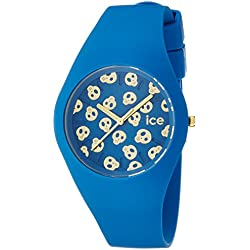 Ice Watch Ice Skull Deep Water Women's Quartz Analogue Watch with Blue Dial and Blue Silicone Bracelet ICE.SK.DWR.U.S.15