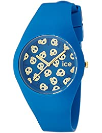 Ice-Watch - ICE skull Deep water - Blaue Damenuhr mit Silikonarmband - 001256 (Medium)