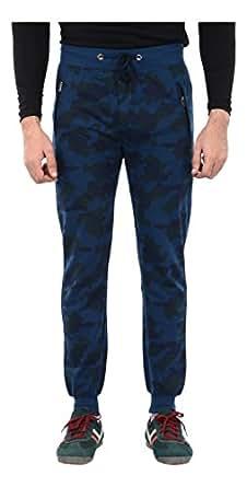John N John Men's Cotton Track Pants (KJ514 NAVY--M, Blue, Medium)