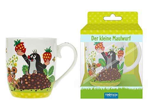 Kindertasse Der kleine Maulwurf Erdbeere: Geschenktasse aus Porzellan -