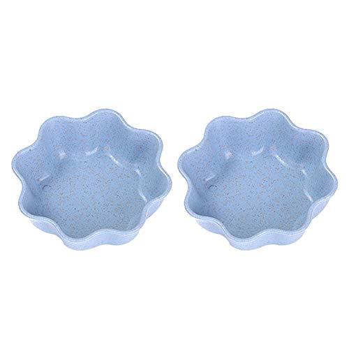 Dylandy Saucenteller Home Kitchen Dish Untertasse Tableware Creative Plastic Round Plate for Ingredient Sauce Snack Dessert Blume/Blau Blume-sauce