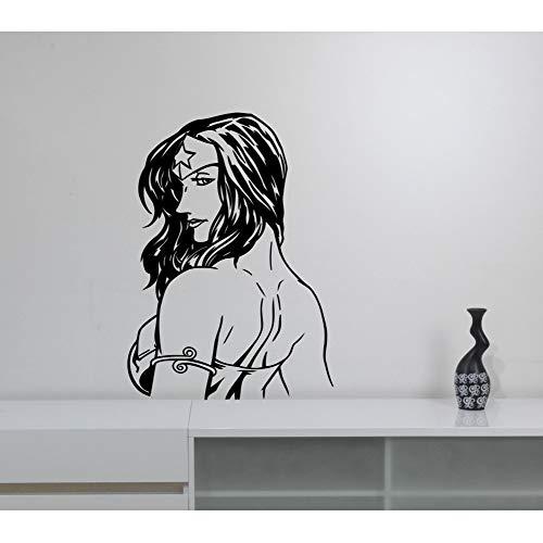 zlhcich Superheld Frau Wandtattoo Cool Wonder Girls Marvel Comics Wandaufkleber Für Kinderzimmer Jugendliche Schlafzimmer Interior Decor 42 * 59 cm