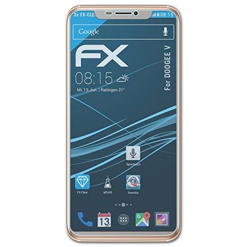 atFolix Schutzfolie kompatibel mit DOOGEE V Folie, ultraklare FX Bildschirmschutzfolie (3X)