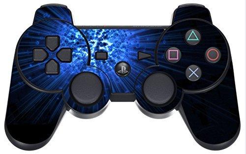 PlayStation 3 PS3 Controller Sticker - Aufkleber Schutzfolie Skin für Sony Playstation DualShock 3 Wireless Controller Blue Explosion