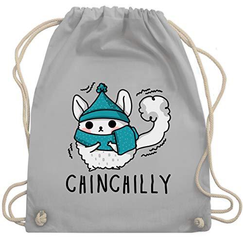Sonstige Tiere - Chinchilly - Unisize - Hellgrau - WM110 - Turnbeutel & Gym Bag -