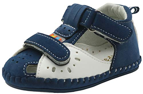 Kleinkind-Baby-Junge weiche Sohle Sandalen Schuhe mit Fußgewölbe (Color : Navy+White, Size : 3 M US Infant) Infant Navy Schuhe