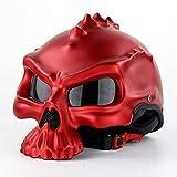 MOMAMO Casco Moto, Cascos Modulares, Personalidad Personalidad CráNeo Casco Locomotora Casco Elfo Casco Harley Puede Usar Un Espejo De Burbujas De Doble Cara Puede Ser Usado