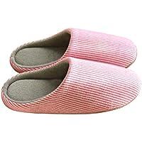 Zapatillas de invierno cálidas zapatillas de felpa interiores acogedora casa peluda zapatillas antideslizantes para mujeres dama para 43-44