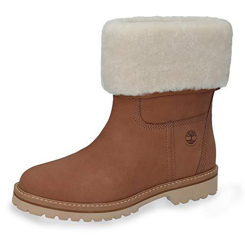 Timberland TB0A1SAKF131 Chamonix Valley WP Shearling Fold Down Damen TEX-Boots, Groesse 36, cognac -