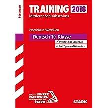Training Mittlerer Schulabschluss NRW - Deutsch Lösungen