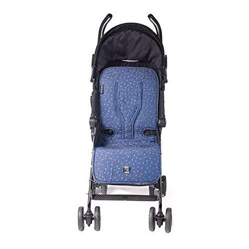 Walking Mum - Colchoneta universal denim baby para silla de paseo azul