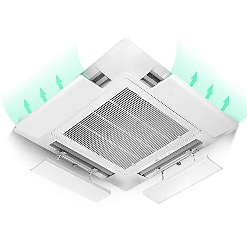 Klimaanlagen-Abweiser FüR Decken-Zentralklimaanlage,Verhindert Direktes Blasen Der Luft,Einstellbarer Winkel,Geeignet FüR 43-73 Cm,Pc-Harzmaterial (EinzelstüCk) (Klimaanlage Decke)