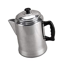 Percolator Coffee Maker Outdoor Camping Brewer Pot 3L Aluminum Pot Lid