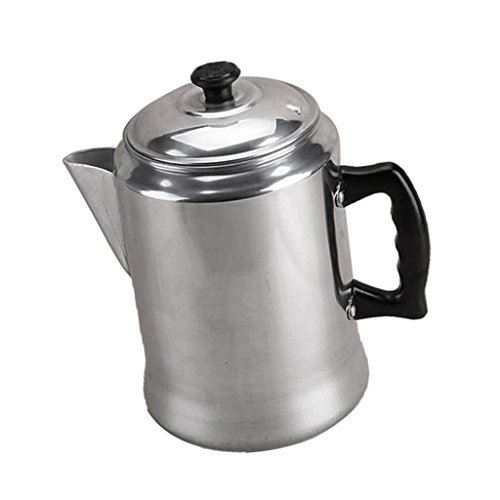 Sharplace Percolator Coffee Maker Outdoor Camping Brewer Pot 3L Aluminum Pot Lid 41gCnJad6pL