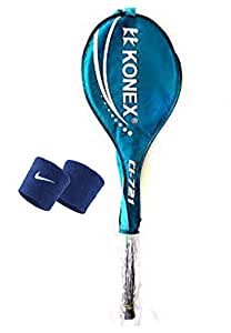 Mor Sporting KNX Single Wide Body Badminton Racquet CI-721 with sweat band