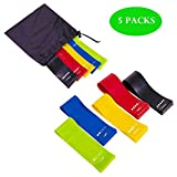 BALABA 5 Sets Resistance Exercise Loop Bands,Fitness Bands Perfect for Home Gym Fitness