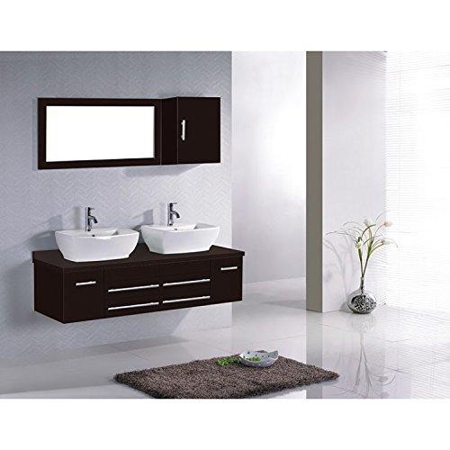 LElvira Wengé : Ensemble salle de bain, 2 vasques et 2 miroirs