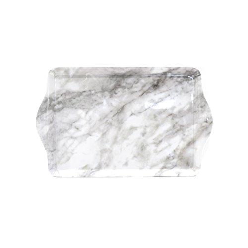 saveur-et-degustation-ks9227-plateau-de-service-effet-marbre-plastique-blanc-421-x-262-x-31-cm