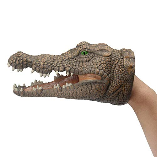 Webby Kid Crocodile Hand Puppets Role Play Realistic Head Gloves Toy