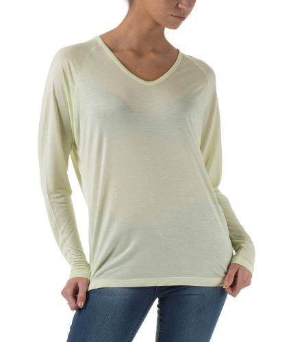 Selected Femme Damen Basics RAS LS TOP BASIC lime cream
