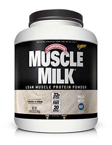 Cytosport - Muscle Milk Lean Muscle Protein Powder, Cookies N' Creme - 4.94 lbs by Cytosport