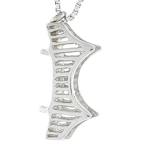 In argento Sterling con ciondolo a forma di ponte di Londra