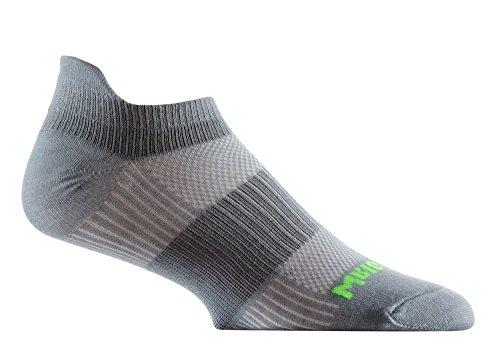 Wrightsock Coolmesh II Tab Running Socken-2Pack, Herren Damen, stahlgrau, Small -