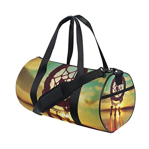 jstel Atrapasueños Sunset Bolsa de deporte gimnasio para hombres y mujeres bolsa de viaje de viaje
