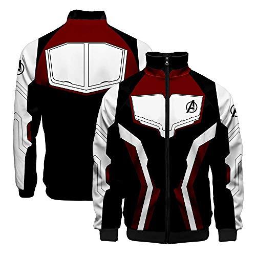 Kostüm Quicksilver Jacke - Superheld Erwachsene Baseball Jacke Pullover/Reißverschluss Mantel Cosplay Kostüm S