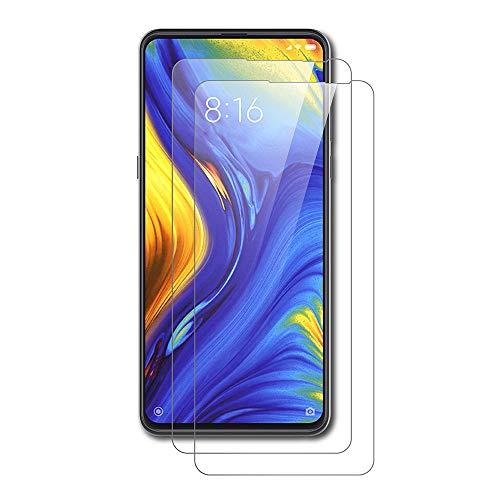 AICEK [2-Pack Protector de Pantalla Xiaomi Mix 3, Cristal Templado para Xiaomi Mi Mix 3 Vidrio Templado Xiaomi Mi Mix 3 Cristal Screen Protector (6,39 Pulgadas)