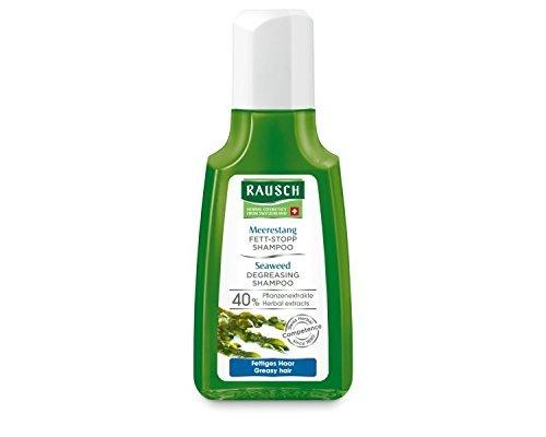 Rausch Meerestang Fett-Stopp Shampoo (sofort lockeres, frisches Haar mit natürlichem Volumen, ohne Silikone und Parabene - Vegan), 4er Pack (4 x 40 ml)