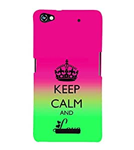 EPICCASE Love and peace Mobile Back Case Cover For Micromax Canvas Hue 2 A316 (Designer Case)