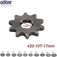 GOOFIT 17mm Diente frontal para moto ATV Dirt bike (420-10T)
