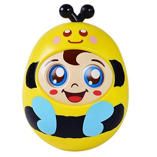 OFKPO Baby Stehaufmännchen Spielzeug,Stehaufpuppe für Babys 6-36 Monate(Biene)