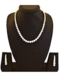 IAM American Diamond Necklace With Earrings For Girls And Women
