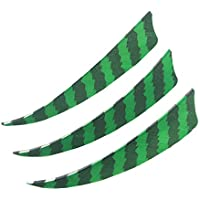 SHARROW 30 piezas Plumas de flecha 4 pulgadas Pluma Natural Fletching (verde)