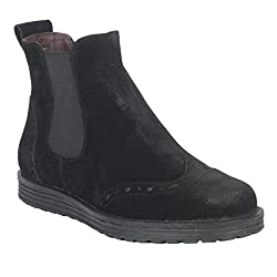 Salt N Pepper Cica Black suede Real Leather Women Causal Boots