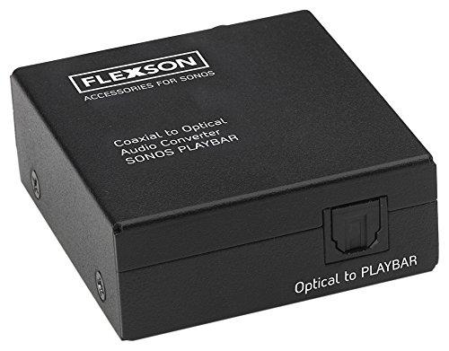Flexson Koaxial zum optischen Audio Converter für SONOS PLAYBAR / PLAYBASE