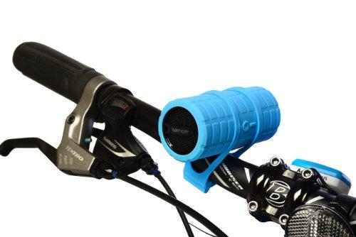 Ivation BULLET Super-Tragbare wiederaufladbare Bluetooth-Lautsprecher, MP3-Player mit MicroSD-Karte & AUX-Eingängen - Ideal für Haus, Büro, Sport & Biking-Bedingungen - Inklusive 4 bunten Wechsel-Skins und Bike-Halterungen - Für Smartphones, Tablets, MP3-Player, Laptops, Handheld-Gaming-Konsolen, tragbare DVD-Player & weitere Geräte