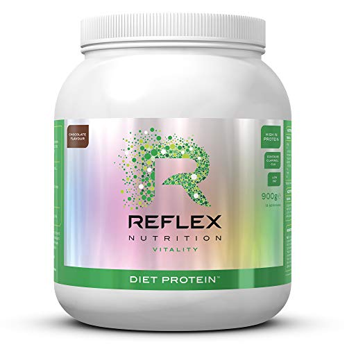 Reflex Nutrition Diet Protein Powder 191 Calories High Protein Low Fat Whey Protein with L-Carnitine Green Tea (Chocolate) (900g) (Made in the UK)