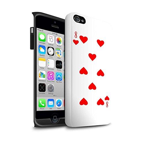 STUFF4 Matte Harten Stoßfest Hülle / Case für Apple iPhone 6 / Pik-König Muster / Kartenspielen Kollektion 8 von Herz