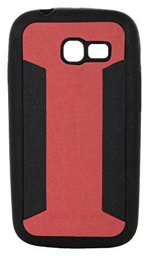 iCandy™ 2 Color Soft Lather Finish Back Cover For Samsung Galaxy Star Pro S7260 /S7262 - Red  available at amazon for Rs.115