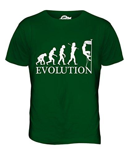 CandyMix Klettern Felsklettern Evolution Des Menschen Herren T Shirt Flaschengrün