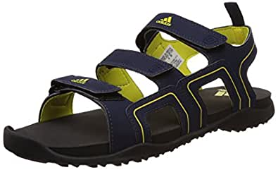 adidas Men's Ediffin Blue, Black and Yellow Athletic & Outdoor Sandals - 11 UK
