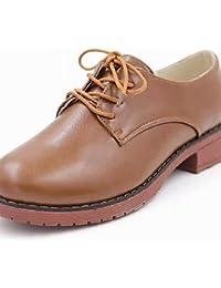 NJX/ hug Zapatos de mujer - Tacón Cuña - Cuñas - Tacones - Casual - Semicuero - Negro / Blanco / Almendra , almond-us8 / eu39 / uk6 / cn39 , almond-us8 / eu39 / uk6 / cn39