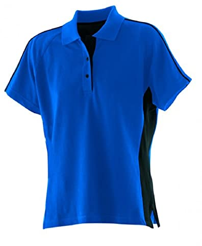 Finden & Hales Ladies Sports Pique Polo Shirt Royal XL
