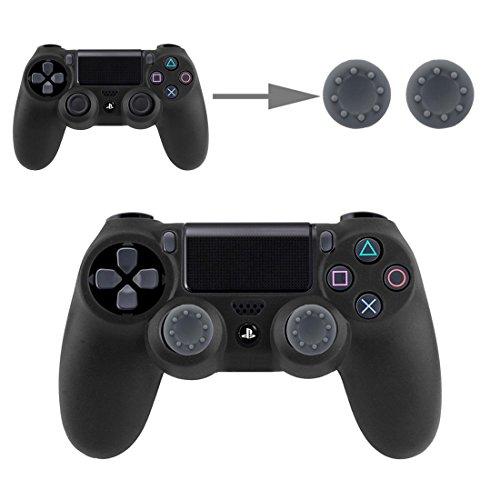 Controller Aufsätze Thumbsticks Analog Stick Kappen Silikon Schutzkappen Control Sticks für DualShock Gamepad Sony Playstation PS4 Pro, PS4, PS3, PS2, Xbox One X, Xbox 360, Nintendo Switch in Grau